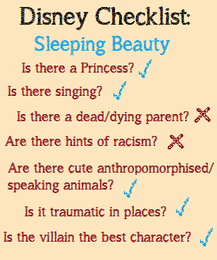 Disney Checklist Sleeping Beauty